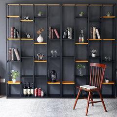 Nordic simple wind shelf, iron show shelf, retro bookcase shelf, LOFT screen partition, closet lockers Length 110*, width 30*, height 180