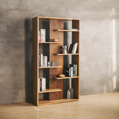 My WUSHE solid wood bookshelf, modern simple bookcase, log porch partition, self-contained shelving rack