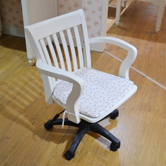 Korean white garden furniture of the study furniture solid wood chair lift swivel chair LS901# computer Solid wood chair frame Nylon foot Fixed armrest