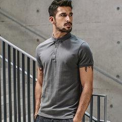 Daily specials, men's short sleeved polo shirt, men's lapel, summer black T-shirt, men's self-cultivation Paul shirt 1524 M Greyish green