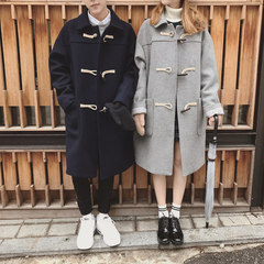The new winter wool coat and long coat in Korean loose sportswear woolen coat couples dress Pay for the flowers and pull down some pictures Royal Blue