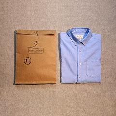 Autumn original Oxford long sleeve shirt, pure cotton pure cotton leisure men's white shirt, Shawn Yue self-cultivation shirt tide 190XXXL Sky blue