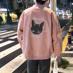 @ Jun Jun, autumn and winter couple, Korean version jacket, junior casual baseball wear and cotton jacket, men's coat tide S Khaki cotton