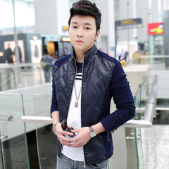 Spring and autumn with men's COATS JACKET youth baseball uniform trend of Korean boys leisure dress gown 3XL 750 blue