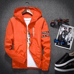 2017 new autumn coat men's spring and autumn Korean men's thickening jacket, junior high school students' sports men's wear tide 3XL Orange red