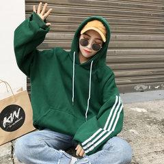 A couple of female students sports leisure sweater Korean tide wide Songyuan Su BF Korea ulzzang male wind coat 3XL Black thin money