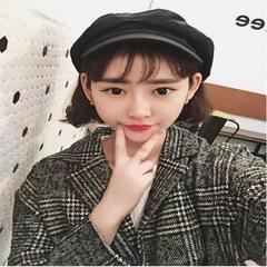 2017 Korean winter women's new loose Plaid suit collar wool coat woolen coat students F Grey grey lattices