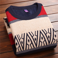 Autumn and winter sweater young men warm cashmere sweater shirt with thickened middle-aged leisure sweater hedging L [100-120 Jin] Six hundred and twenty-four