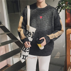 Trend of Korean personality sweater 2017 male winter new students head loose all-match winter sweater M black