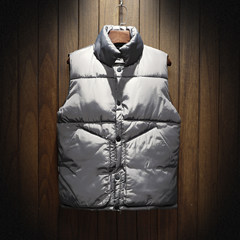 Down jacket, men's autumn and winter fashion, handsome young couple, winter social spirit, little coat 3XL 666 gray