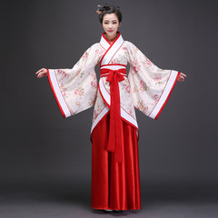The Tang Dynasty ancient fairy costume clothing Hanfu costumes classical dance summer Princess Royal costume dress skirt S Bonus skirt