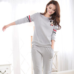 Every day special autumn and autumn pajamas, women autumn cotton long sleeved set of Korean version, fresh students, ladies winter home, summer clothes M code (75-95 Jin comfortable / Pro skin / breathable) Color