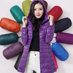 MM200 Jin fat coat add fertilizer XL thin jacket girls long winter fat sister mother dress L Rose red