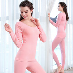 Year of fate long johns suit collar female thin body tight underwear lady backing cotton sweaters in winter Free package (80 kg — 140 kg) Lace black