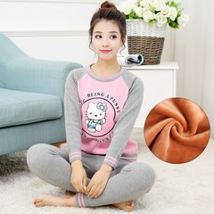 The young girl's winter cotton cashmere thermal underwear sets with high school students can wear cotton sweater 4XL recommends height 168-175 Girl watermelon red