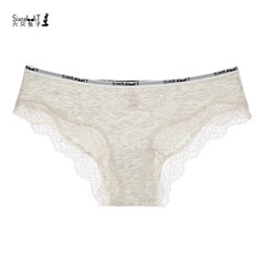 Six rabbits, three boxes, one box, three boxes, ladies briefs, cotton files, Lace Sexy M 3 pale grey