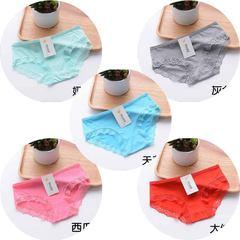 Pure cotton underwear female black and white cotton fabric in bikini girls head modal briefs Big code XL105-135 Jin Modal: Green + ash + Blue + Red + Melon