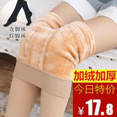 Autumn and winter color stockings, anti silk tights, thin base socks, spring and autumn, cashmere thickening, warm lady F Blackish green