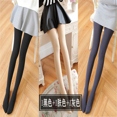 Spring and autumn cashmere socks black tights with thickened winter, thick thin cashmere silk stockings lady with feet warm Skin color (buy 10 to send 2) 1 Black 1 skin 1 ash