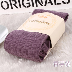 Women's spring and autumn cotton knits, middle and heavy socks, winter socks, leg socks Skin color (buy 10 to send 2) Heather (Lavender)