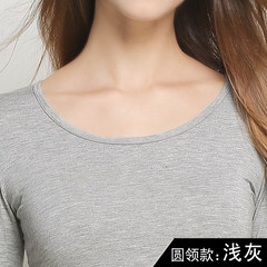 Special offer every day Ms. Kuanqiu clothing underwear body modal thin sweater long johns line pants underwear female suit Cotton Lycra XXL (suggestion 65-78KG) Light grey