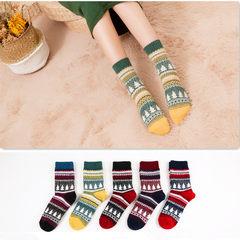 Autumn and winter thick warm socks cotton socks Mori retro ladies barrel wool socks two bars socks. Size 35-44 Double tree (optional color, message notes)