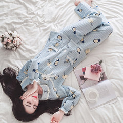 Air floor pajamas, women's winter thickening, pure cotton home dress, women's autumn winter long sleeve sandwich cotton pajamas lady suit Comfortable fabric, no pilling, no fading Pineapple sandwich