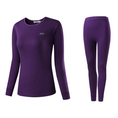 Bosideng - couple thermal underwear sets thin solid autumn clothing M / MS cotton cotton sweater M Lady violet