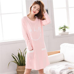 Special offer every day in spring and autumn winter cotton Nightgown Pajamas girl cute long sleeved loose Nightgown dress suit Home Furnishing M 5320 long sleeved dress