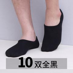 Men's socks socks socks socks Summer Low shallow mouth contact short tube socks socks cotton thin socks F 10 black queen