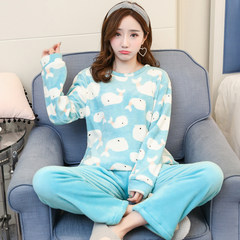 Women's winter flannel The number of XXL codes [125-143 Jin] Cute Dolphin