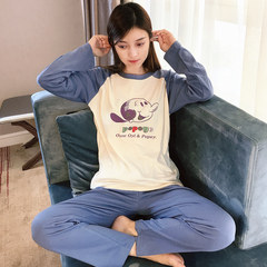Pajamas female autumn long sleeve Korean version loose sweet, spring autumn students lovely cartoon winter two sets of home wear women XL [weight 115-125 Jin] Popeye suit