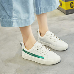 In the autumn of 2017 new Korean thick white shoe shoes leisure shoes all-match wind Hong Kong students summer shoes shoes Thirty-eight green