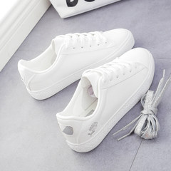 In the autumn of 2017 new white shoe shoes all-match white shoes children shoes a Korean student sports shoes Thirty-eight silver