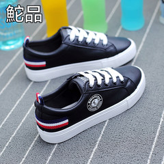 Tuo 2017 autumn winter leisure shoes all-match white shoes a Korean student chic white shoes Thirty-eight black