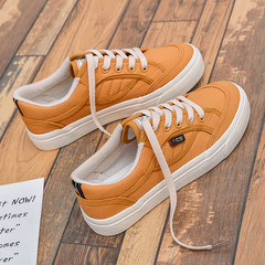 Chic canvas shoes in autumn and winter female students all-match white shoe shoes shoes Hanfeng Korean ulzzang Harajuku Thirty-eight Camel