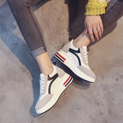 In the autumn of 2017 new Korean thick white shoe female all-match winter sports shoes shoes increased in autumn Thirty-eight black