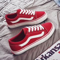 In the autumn of 2017 new canvas shoes casual shoes Korean female ins super fire all-match ulzzang female students Thirty-eight Big red