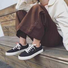 White canvas shoes shoes ins shoes Korean students all-match flat ulzzang Hong Kong Style super Fire Pro Harajuku Thirty-eight black