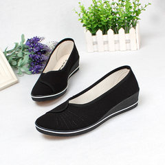 Word brand nurse shoes, white slope with canvas shoes, women's shoes, small white shoes, women's shoes, beauty shoes, work shoes, women Thirty-eight black