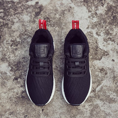 The fall of 2017 new sports shoes female Korean ulzzang Harajuku running shoes breathable casual shoes all-match students Thirty-eight Black velvet