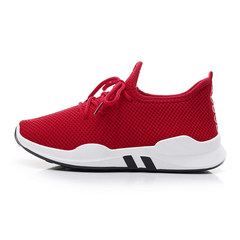 2017 new autumn and winter ulzzang leisure shoes female students all-match plus lint thick soled running shoes Thirty-eight Red spring and Autumn