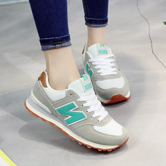 Autumn all-match letter N shoes ulzzang korean students who exercise a Agam running shoes Thirty-eight Light grayish green
