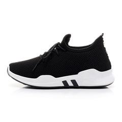 2017 new autumn and winter ulzzang leisure shoes female students all-match plus lint thick soled running shoes Collection and purchase priority shipment Black spring and Autumn