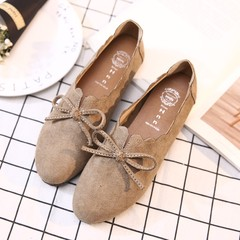 A pedal shoes shoes fall Doug 2017 new flat loafer all-match Korean Bow Shoes Thirty-eight This single