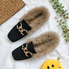 Doug shoes with drizzle in autumn and winter 2017 new students a Korean society all-match spring shoes shoes scoop Thirty-eight black