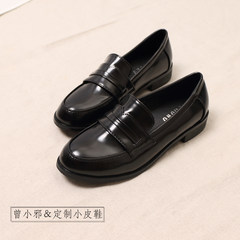 British style shoes black shoes girls fall all-match Korean tide wind Institute Harajuku soft sister round shoes Thirty-eight black