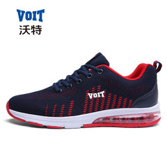 Autumn and winter sports shoes shoes Voight Korean men's running shoes warm air cushion shoes leisure travel net tide Thirty-eight Red and black (collection gift package)