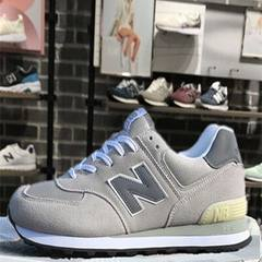 The new flagship store official authentic shoes net sports shoes new balance shoes 2017 new couples in autumn and winter Thirty-six Light grey male feet