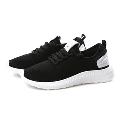 Black sport shoes, running shoes, breathable autumn 2017 new mesh all-match gym students leisure shoes 39 men's money black